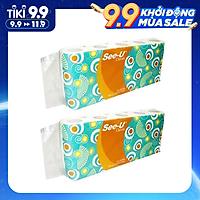 Combo 20 cuộn Giấy vệ sinh See-U, 2 Lớp, 140 Tờ/cuộn
