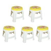 Combo 5 Ghế nhựa trẻ em Buddy Qui Phúc Màu Sắc Sinh Động - Sản xuất từ 100% nhựa chính phẩm không chứa chất độc hại, an toàn cho bé