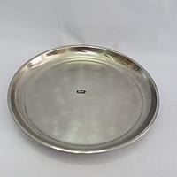 Bộ 3 khay phục vụ loại tròn bằng inox kích thước 32cm
