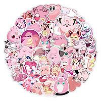 Set 30-60 Pink Pokemon sticker-Pokemon hồng
