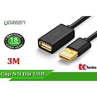 Cáp nối dài USB chuẩn 2.0 chính hãng Ugreen 10317 dài 3M - Hàng chính hãng
