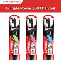 Bàn chải điện dùng pin Colgate 360 độ Charcoal than hoạt tính kháng vi khuẩn (Hồng)
