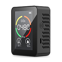 KKmoon 3-in-1 CO2 Temperature Humidity Monitor Multifunctional Air Quality Detector USB Rechargeable Indoor Carbon