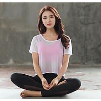 Bộ quần áo tập gym yoga nữ 3 món cao cấp