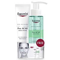 Combo Eucerin PRO Acne AI Clearing Treatment tặng Gel Rửa Mặt Giảm Mụn