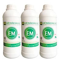 Combo 3 chai Chế phẩm sinh học EM gốc (1lit). Ủ phân cá, rác bã hữu cơ hoai mục không mùi hôi. Làm phân bón giàu dinh dưỡng cho cây trồng. Men vi sinh Đại Học Nông Nghiệp 1. HSD: 2 năm
