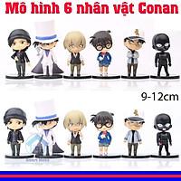 Bộ mô hình 6 nhân vật Conan - (Figure) Kaito Kid - Magic Kaito - Siêu đạo chích Kid,...  tạo dáng cực ngầu , đồ chơi trang trí conann cao 9 đến 12cm