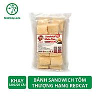 Bánh Sandwich Tôm Thượng Hạng RedCat - Khay 320g, 16 cái - Foodmap