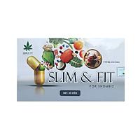 Thực phẩm bảo vệ sức khỏe Slim and Fit (30 viên) - Hỗ trợ giảm cân, nâng cơ mông