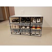 Combo 6 hộp đựng giày nhựa cứng trong suốt