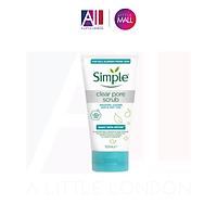 Tẩy da chết Simple Daily Skin Detox Clear Pore Scrub 150ml