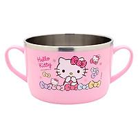 Bát Ăn Mì Cho Bé Bằng Thép Không Gỉ Hello Kitty LKT426 (17.5 x 12 x 7.5 cm) - Hồng