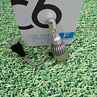 Điện áp 12v DC - Nhiệt mầu 5800-6200k  Đèn hai tim chân H4 có quạt tản nhiệt Công xuất 36w pha C6 - TA271