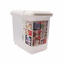 Thùng đựng gạo thông minh có nắp, bánh xe & ca đong (10kg) - Hàng Nội Địa Nhật