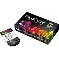 [Một Miếng] Kính Áp Tròng Australia Màu Đen Medicolor 3 Tháng – Lens Màu Đen (Black)