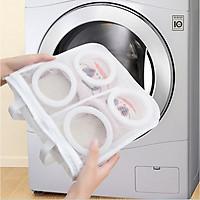 Túi lưới giặt giày quần áo tổ ong có khoá kéo cao cấp dùng cho máy giặt nhanh chóng và tiện lợi