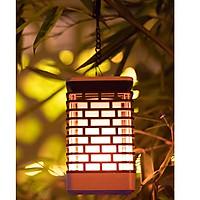 Đèn treo cây hình ngọn nến năng lượng mặt trời, để ngoài trời, chống mưa, chống nắng HT570