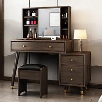 Bộ bàn ghế trang điểm vân gỗ cao cấp, bàn trang điểm BAH036