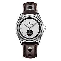 Đồng hồ thạch anh SENORS chống nước 3ATM Nam Đồng hồ nam dây da chính hãng Đồng hồ nam Relogio Masculino - Nâu
