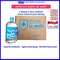 1 Thùng 9 chai Nước súc miệng Dr. Muối truyền thống 1000ml