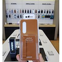 Bao da Samsung Z Fold 3 5G - Leather Flip Cover - Hàng chính hãng