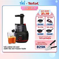 Máy ép trái cây Tefal/ Máy ép chậm Tefal ZC150838 - Công suất 150W - Dung tích 0.8L - Ống dẫn kích thước lớn - Giữ trọn dinh dưỡng - Hàng chính hãng