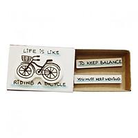 Thiệp Tình Bạn Hộp Diêm Life Is Like Riding A Bicycle OT005