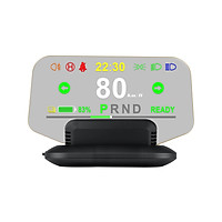 Car HUD Display, Head Up Display High Definition OBD GPS Windshield Projector Multi-language Safe Driving Computer with