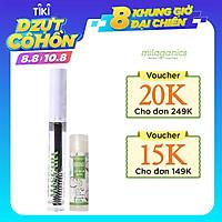 Combo Son Dưỡng Môi Dừa Milaganics (4.5g) + Mascara Dầu Dừa Dưỡng Mi Milaganics