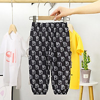 Children Mosquito Repellent Pants Cartoon Breathable Sunscreen Leg Sweatpants For 3-8 Years Old