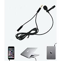 Micro kẹp áo thu âm kèm jack chia Audio dùng cho điện thoại, máy tính bảng
