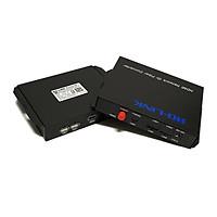 Bộ chuyển đổi hdmi sang quang có cổng USB Ho-link HL-HDMI-1USB-20T/R (2 thiết bị ) - Hàng Chính Hãng