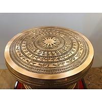 Quả  Trống đồng Ngọc Lũ đường kính 42cm hoa văn chìm tinh xảo nhất