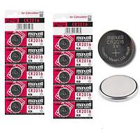 Combo 10 viên Pin Maxell CR2016 lithium 3v dùng cho remote, khóa điện tử, điều khiển, đồng hồ, cân điện tử,...