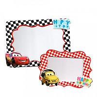 2 khung hình giấy để bàn trang trí sinh nhật - cars