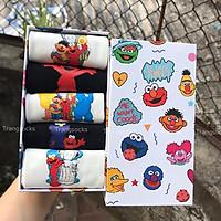 Box 5 đôi tất Sesame street, Kaws Elmo, Simpson