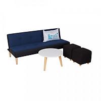 Trọn Bộ Sofa Phòng Khách Bizsofa - Bed - B499 (Sofa Giường + Bàn Tròn + 2 Đôn vuông)