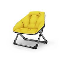 Ghế xếp thư giãn, ghế gấp đọc sách WQB, khung thép sơn tĩnh điện, vải đệm cotton thông thoáng