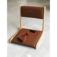 Ghế bệt tựa lưng, ghế lười bằng gỗ VIMOS -Tặng kèm dây kéo tập thể dục( màu ngẫu nhiên)