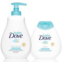Combo Sữa Tắm Gội Toàn Thân Và Sữa Dưỡng Thể Baby Dove Nuôi Dưỡng Chuyên Sâu (400ml & 200ml)