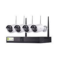 Bộ Camera Wifi NVR4100 Kit 4 Mắt 720P - Hàng Chính Hãng