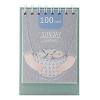 Lịch Kế Hoạch Để Bàn - 100 Days Planner (11.2 x 15.5 cm) - Mẫu Ngẫu Nhiên