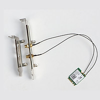 Bộ card WIFI Bluetooth Intel AC-8265 5Ghz tốc độ 867M và Bluetooth 4.2 cho máy bàn - Công nghệ MU MIMO - Hàng nhập khẩu