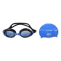Bộ Kính Bơi View V500S-BLBK (Xanh Đen) Và Nón Bơi View V31-BL (Xanh Dương)