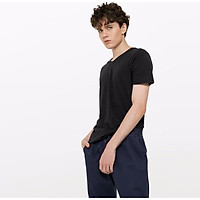 Baleno T-shirt male 2019 summer cotton V-neck short-sleeved shirt loose bottoming shirt male 88902701 01W S