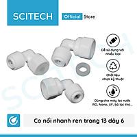 Co nối nhanh ren trong 13/21 ra dây 6 hoặc ren trong 21 ra dây 10 dùng trong máy lọc nước - Hàng chính hãng