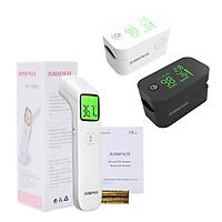 Combo máy đo nồng độ oxy máu SpO2, PR, PI Jumper JPD-500G và Nhiệt kế hồng ngoại không tiếp xúc Jumper FR203 (FDA Hoa Kỳ + xuất USA)