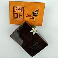 Xà bông Sinh Dược Cà phê quế, xà bông cục handmade 100gr, mẫu bao bì vẽ mộc, mùi quế ấm áp, làm sạch diệt khuẩn, ấm da