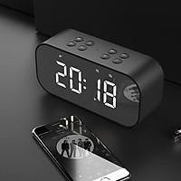 Loa Bluetooth Mặt Gương Kiêm Đồng Hồ Báo Thức BT501 BT-501 V5.0 - Có Khe Cắm Thẻ Nhớ - Hàng Chính Hãng