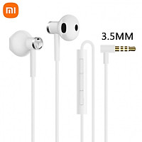 Xiaomi Dual Driver Earphones 3.5mm Version Mi Half-in-ear Headset with Mic Wired Control Music Stereo Headphone